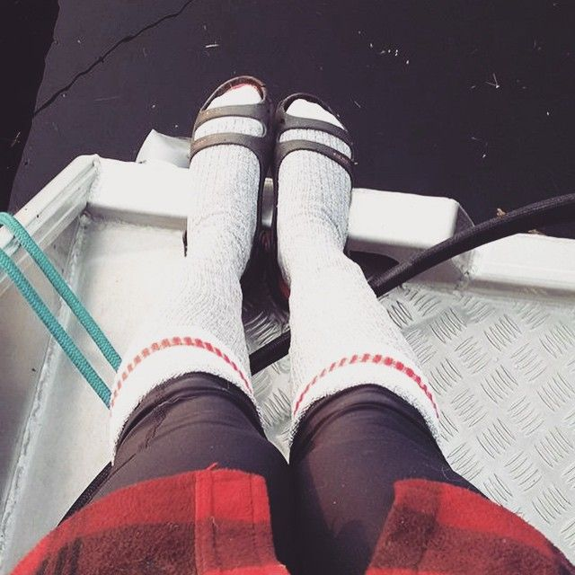 This week's Fan is Caely who sported the famous Pook thigh high socks during a morning fishing trip! We hope they brought you luck and you caught something big! #iloveorangefish #fanfriday #cottage #fishing #plaid #lake #socks #canada #shoplocal