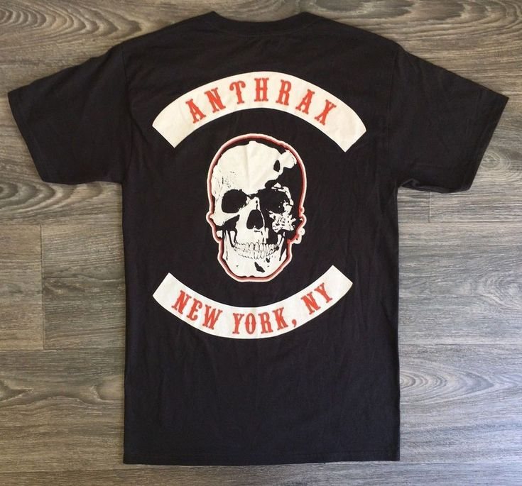Anthrax T-shirt Licensed New York City NYC NY Band Shirt Heavy Metal Tee Small #Hanes #GraphicTee