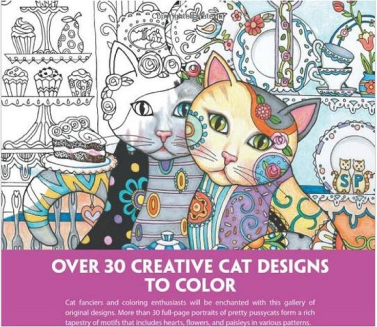 Coloring Books For Adults Creative Cats Design Color Fun Patterns Stress Relief Coloringbook