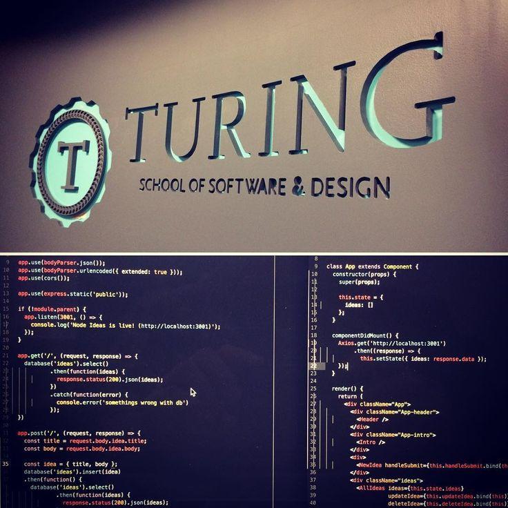 Pair programming with the Peter Springer @turing_school #nodeJS #api #reactjs #knex #postgresql