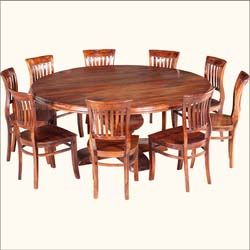 This is what I want for the dining room! Rustic Solid Wood Large Round Dining Table
