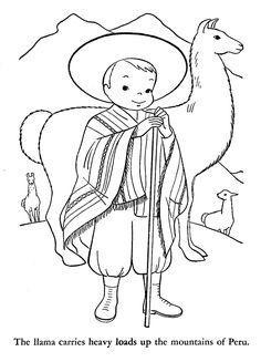 Resultado de imagen para dibujo animado de niños de la sierra peruana