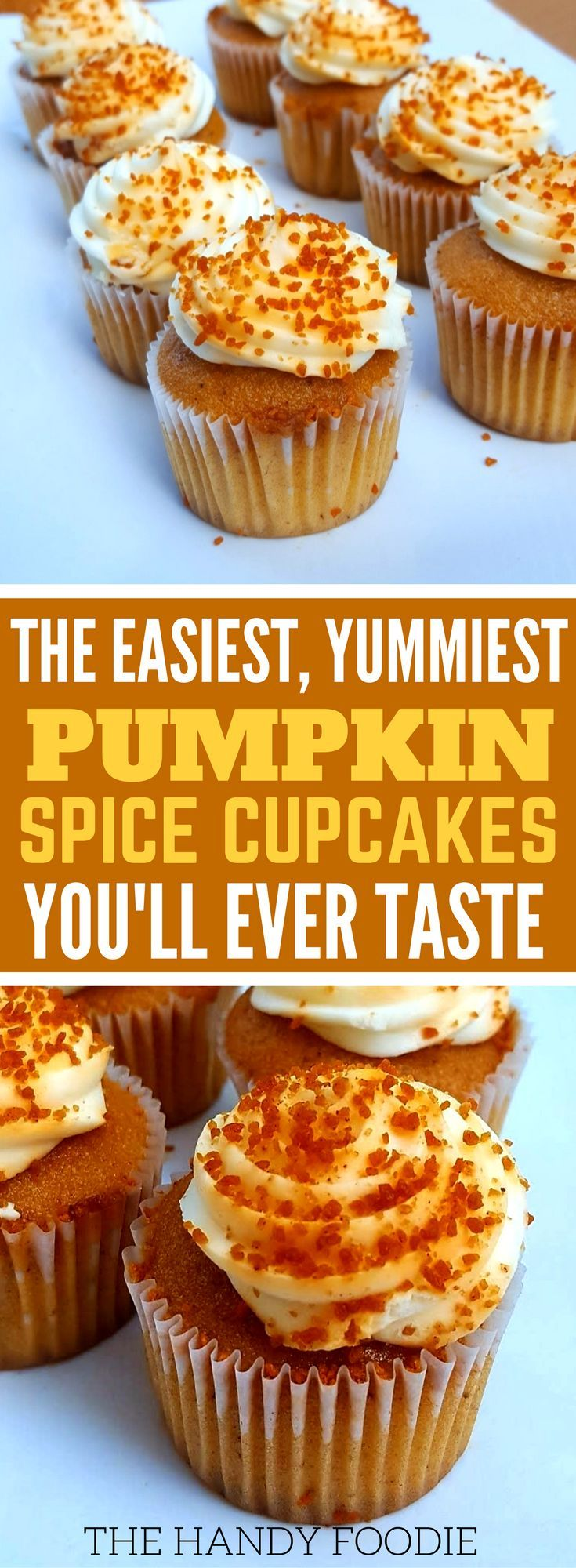 This easy pumpkin cupcake with cake mix is THE BEST! I'm so happy I found this on many of my well-kept fall cupcake recipes. Now I have this easy cupcake recipes box for Fall season! I will include this in my list of yummy desserts for kids and easy dessert for parties. Truly, this is one the best Thanksgiving desserts. Definitely pinning!