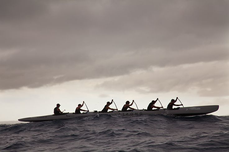 Team Livestrong Outrigger in Olamau Canoe Race 2012.  Photo taken by Anders Carlson www.andersimagery.com