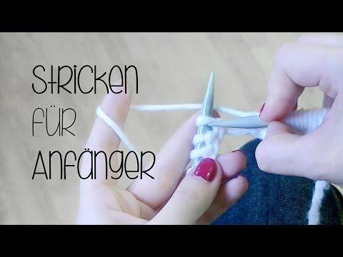 Stricken für Anfänger | Gestrickte Arbeiten + Strickutensilien | Teil 1 - YouTube
