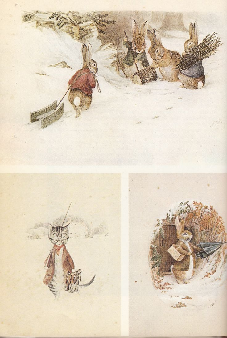 Beatrix Potter - Watercolors dating from about 1894 for a calendar Hildesheimer & Faulkner!!
