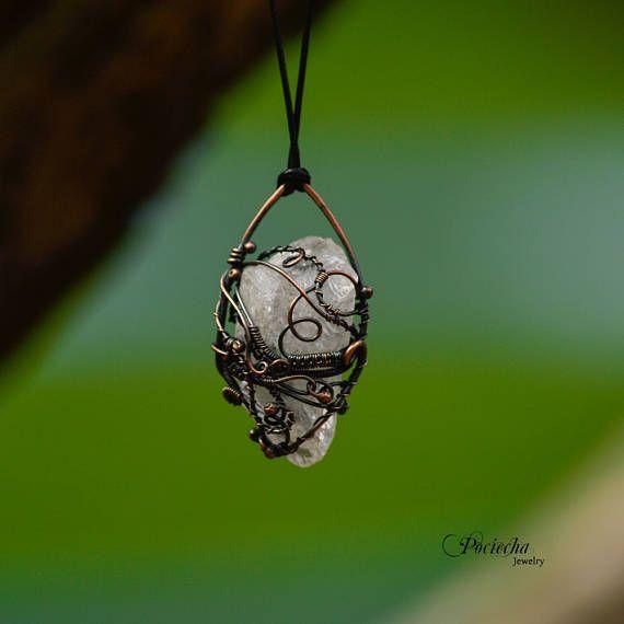Mountain Crystal Necklace by Pociecha Jewelry Bohemian Gem