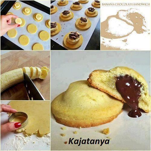 Csokis-banános keksz recept - Habcsók & Púder