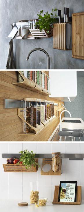 The RIMFORSA range is the natural and stylish way to a clutter-free kitchen. - WoodWorking How To ähnliche tolle Projekte und Ideen wie im Bild vorgestellt findest du auch in unserem Magazin