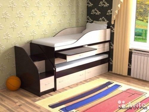 Изготовим на заказ детские уголки, кровати и прочую мебель как по нашим так и по вашим эскизам и фото. Данная модель кровати рассчитана по размерам спального места 160/70см. Возможна доработка конструкции изделия по вашим предпочтениям. Размеры спальног...