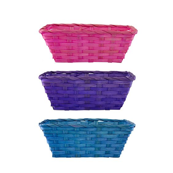 Basket in bright pink, purple & blue - Buy at Dymak | Wholesale