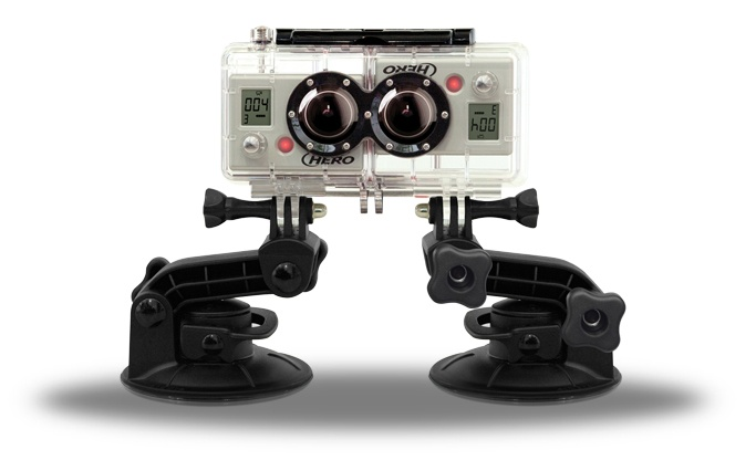 GoPro 3D HERO System - World's Smallest 1080p 3D camera : actually 2 Hero cameras with a sync cable inside the combo case so you get perfect 3D footage of your next experience!