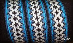 Bunad, Smykker, vev & rosemaling: Blå hårvippe.