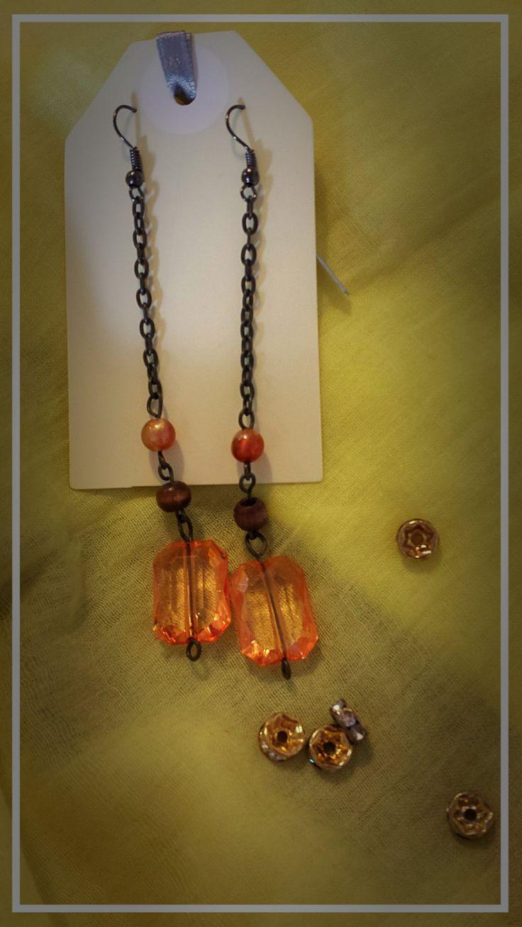Long chain earrings by BlueBirdjewel on Etsy
