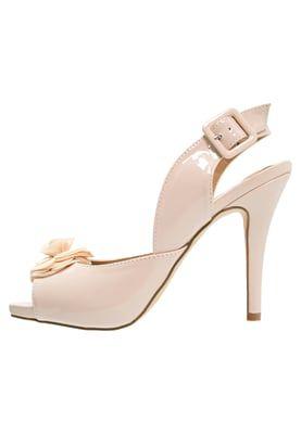 EIRENNE - Sandały na obcasie - nude