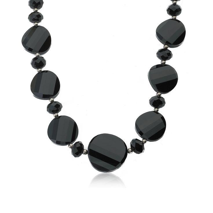 RICCOVA Aqua Faceted Glass 18-inch Avant-garde Necklace