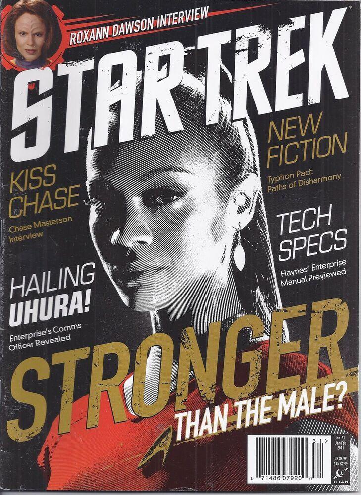 Star Trek Movie Magazine Uhura Zoe Saldana Chase Masterson ...