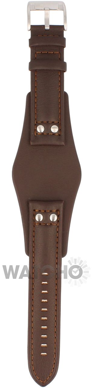 With free connecting pins. Fossil CH2565 replacement strap. Genuine brown leather strap. 22 mm width at fitting.