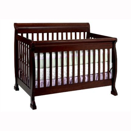 """Million Dollar Baby """"Kalani"""" Collection 4-in-1 Espresso Crib    Inspired by the island lifestyle, the Kalani collection is a tropical treat for the eyes. Aloha! Features a rich, espresso finish. Convert this elegant, contemporary style crib into a toddler bed, a daybed, or use the stationary side as a headboard for a full size bed. (Conversion rail kit for full size bed sold separately.)"""