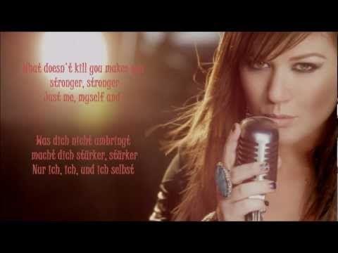 Kelly Clarkson - Stronger (lyrics + deutsche Übersetzung)