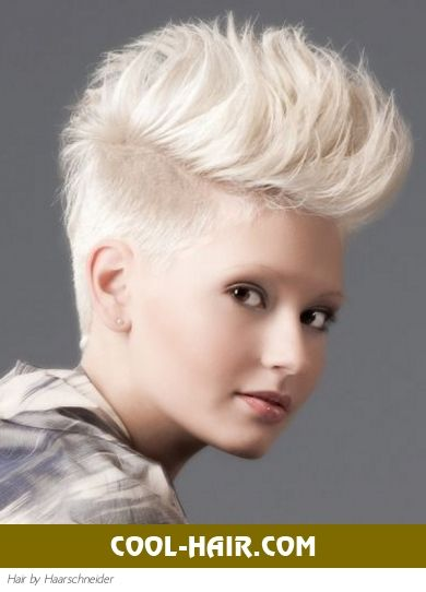 Platinum Blonde Mohawk Hairstyle Hair