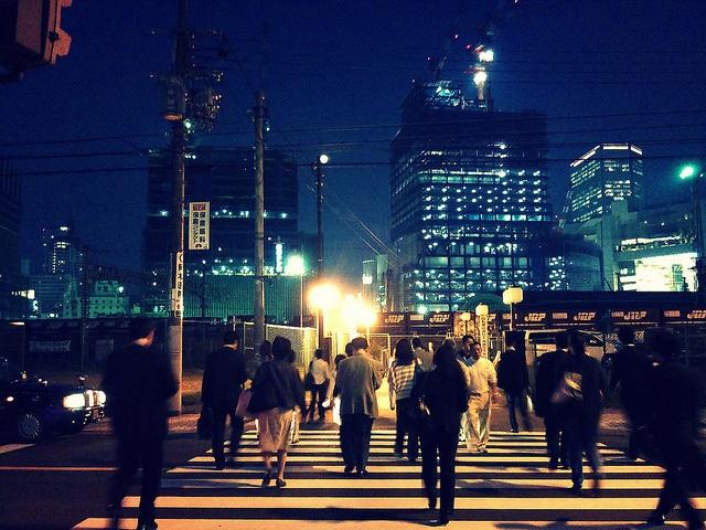 10-11-2011 Night view in Osaka by n_sky, via Flickr