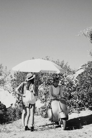 bergdorfgoodman:    Vespa rides in Sardinia.