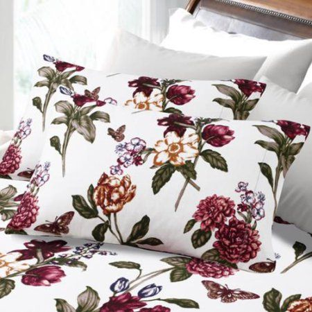 200gsm hemstitched blossoms printed deep pocket flannel sheet set queen sheetu2026 - Flannel Sheets Queen