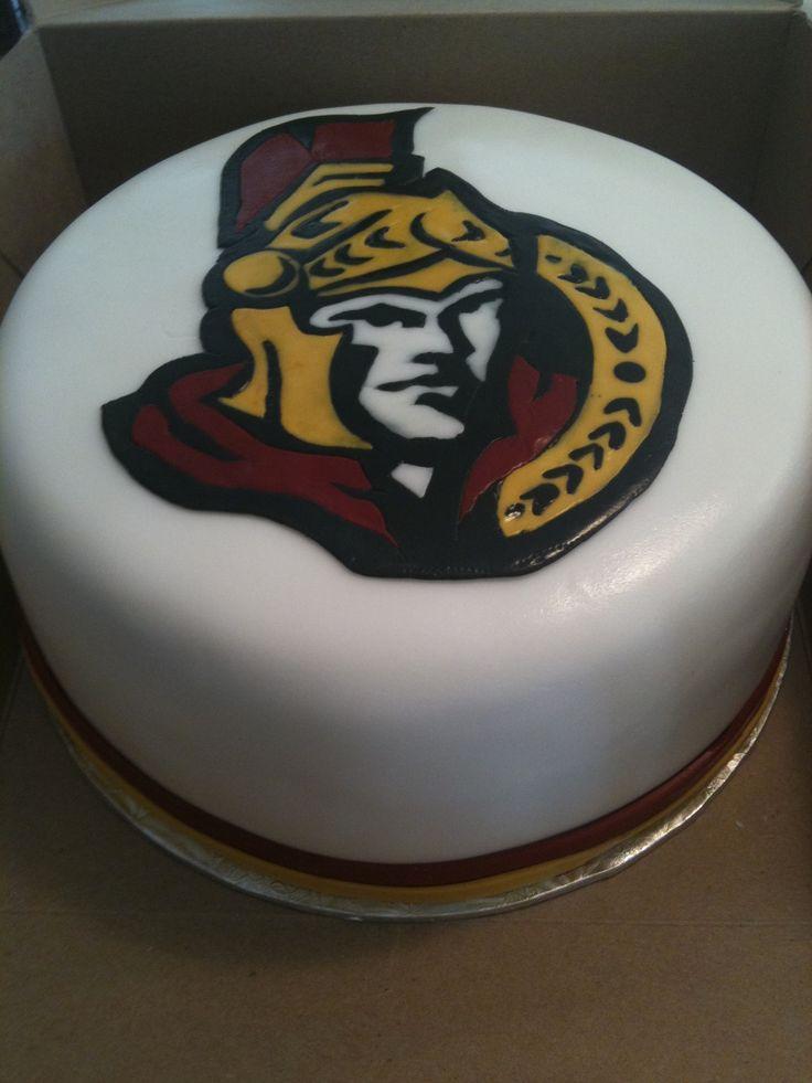 NHL Ottawa Senators cake