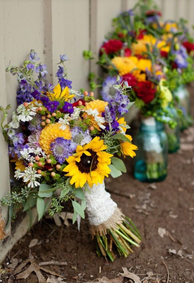 great colors floristik pinterest brautstr u e brautstrau sonnenblumen und einfache. Black Bedroom Furniture Sets. Home Design Ideas