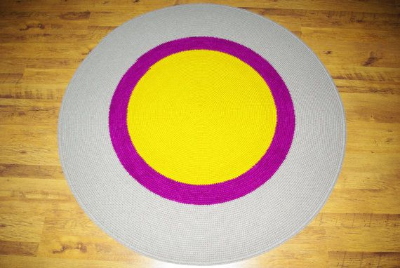 Large crochet round rug 64'' 164 cm/Crochet by AnuszkaDesign, $160.00