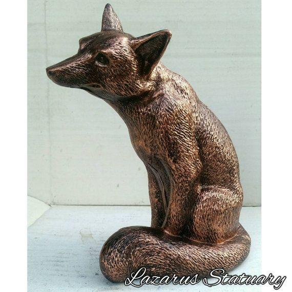 Handmade bronze fox statue on etsy  https://www.etsy.com/listing/242682818/bronze-fox-statue-eclectic-sculpture