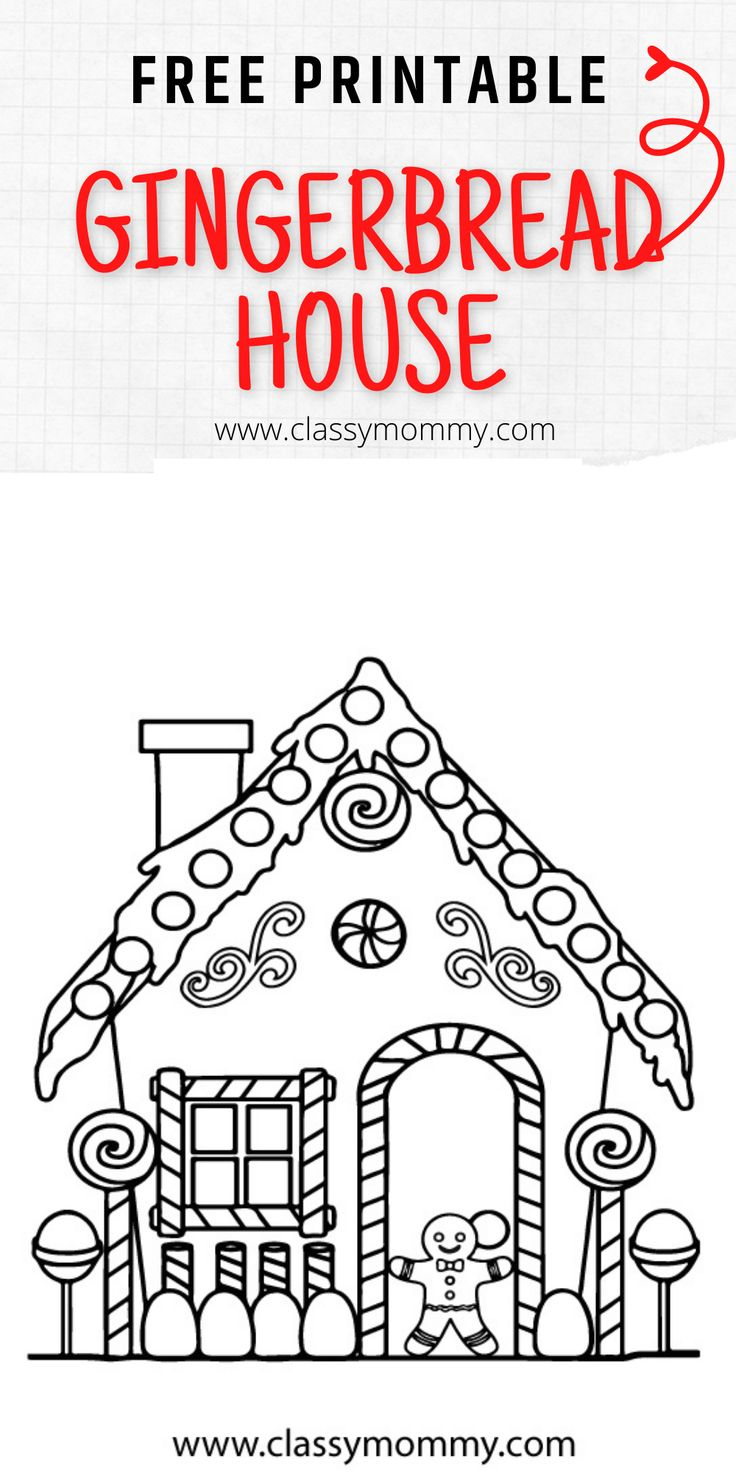 Free Printable Gingerbread Coloring Pages Classy Mommy Free Printables House Colouring Pages Coloring Pages [ 1472 x 736 Pixel ]