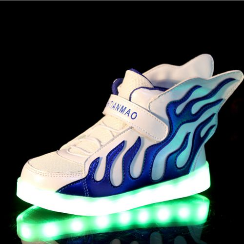 10 colors unisex led luminous light shoes led light up sneakers with wings  for girls boys usb charging children kids shoes men