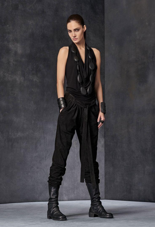Sleeveless Cowl Neck Top as seen on Donna Karan.