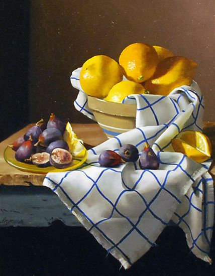 "Claudia Seymour, ""Meyer lemons & fresh figs"""