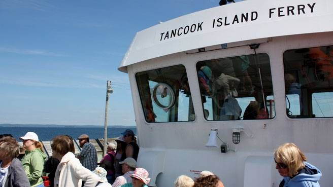 Lots of passengers on the Tancook Ferry, in Chester Nova Scotia
