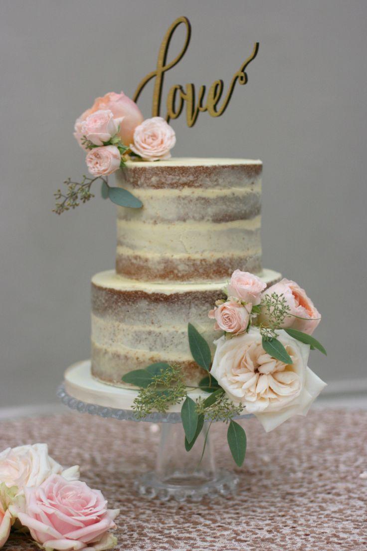 Semi-Naked Wedding Cake | Sugar Plum Bakes