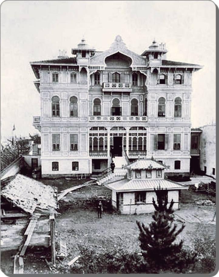 Halil Rıfat Paşa Konağı / Teşvikiye - photo from 1900s. The building was demolished in 1940s. 1940'larda yıkıldı.