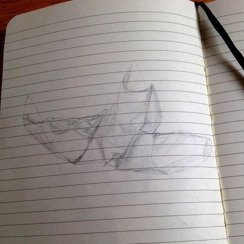Vancouver Draw Down #drawing #yvr Day 23: Draw a piece of crumpled paper