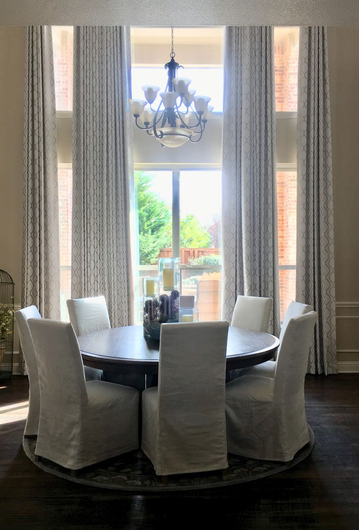 Custom Drapes Ideas for Dining Room Two