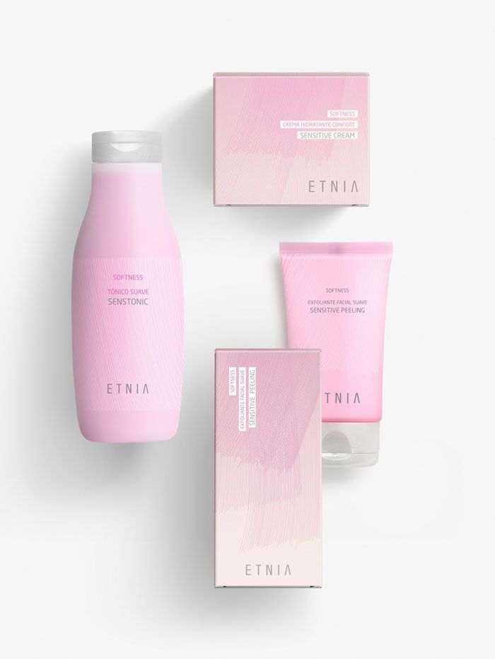 Lavernia - Cienfuegos created a coherent package design system for over 200 references for ETNIA make up and treatment.
