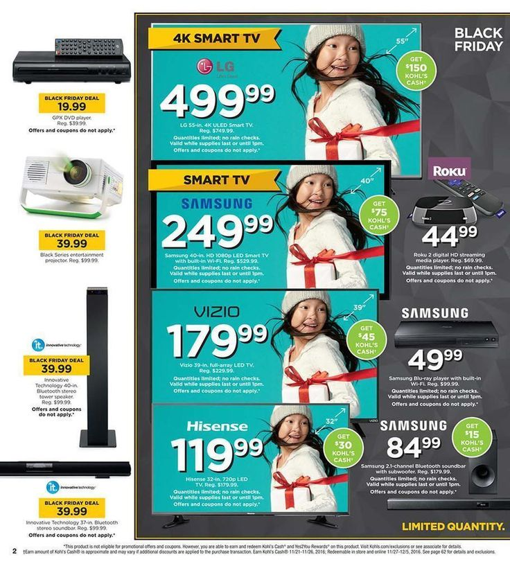 Kohls Black Friday Ad Scan 2016 Page 2. Official Kohls Black Friday event will kick off on Monday, Nov. 21. They'll offer several online, one-day-only door busters through Nov. 23. #KohlsBlackFriday #KohlsBlackFriday2016 #KohlsBlackFridayAd #BlackFriday2016