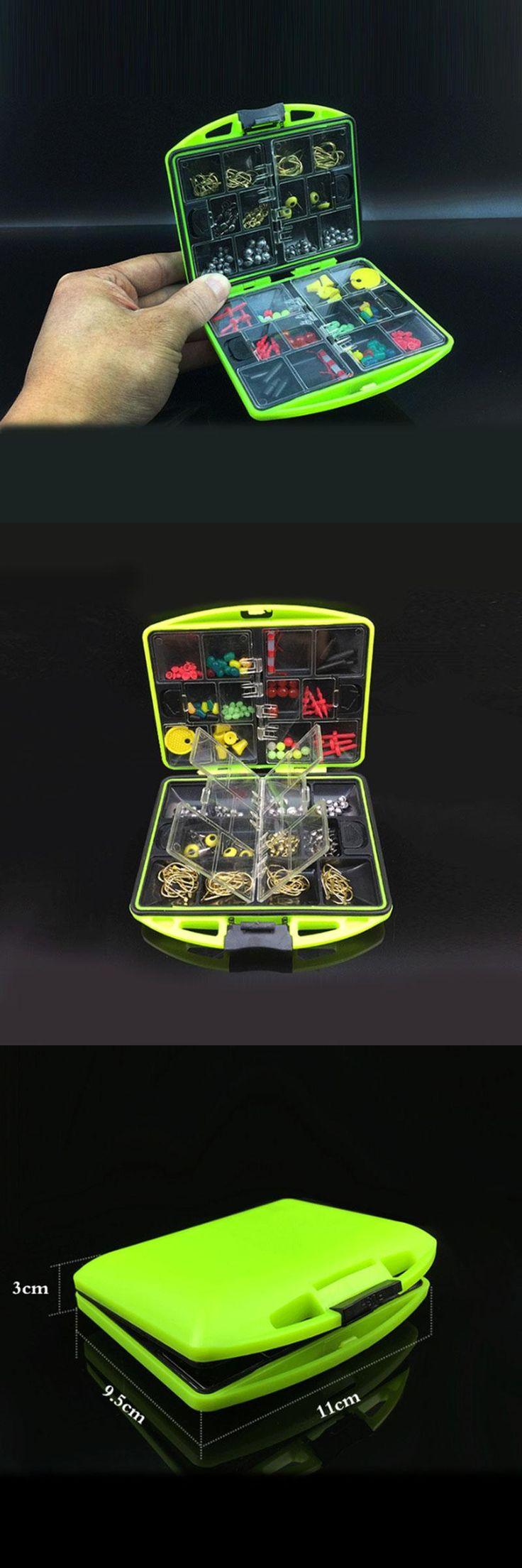 [Visit to Buy] 100 Pcs/Box Rock Fishing Accessories Box Surf Casting Fishing Tackle Box Swivel Jig Hooks Fishing Tools Set Fast Shipping #Advertisement