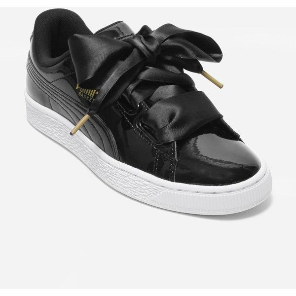 Puma Basket Heart (1.785 ARS) ❤ liked on Polyvore featuring shoes, sports shoes, sports footwear, sport shoes, chunky shoes and rugged shoes