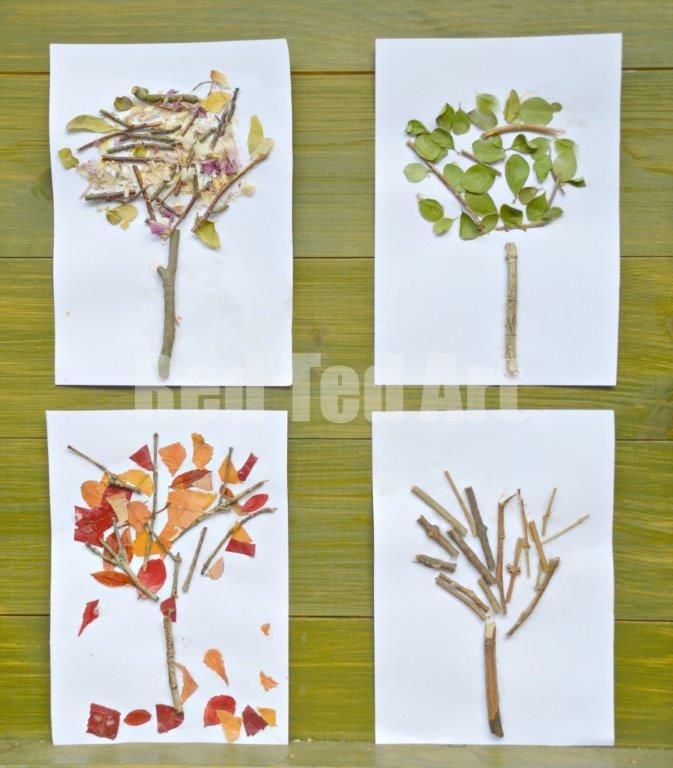 Four Seasons Crafts: Autumn Nature Tree - Red Ted Art's Blog--Great idea for an art project when studying Trees