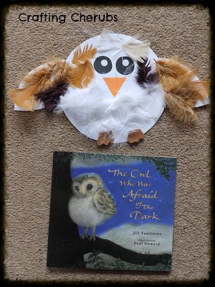 craftingcherubsblog. The Owl Who Was Afraid of the Dark Craft. Owl Toddler Craft. World Book Day Craft. Toddler Craft. Book Craft.