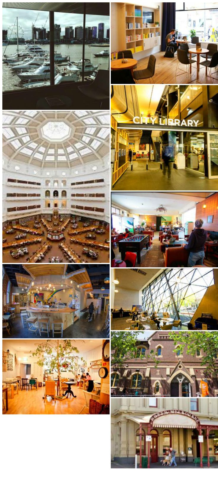 Cafes and Libraries