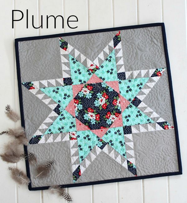 Threadbare Creations- Plume Mini Quilt PDF Pattern