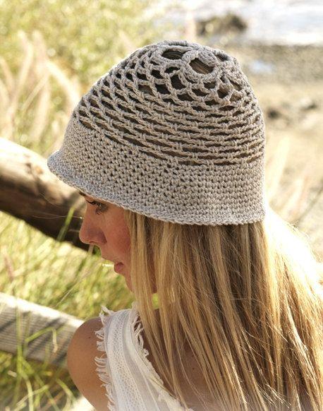 Bucket hat women Sun hat Summer hat Cotton hat by prettyobject
